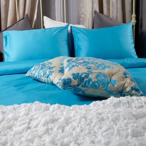 Спален комплект памучен сатен Син | Cama mia