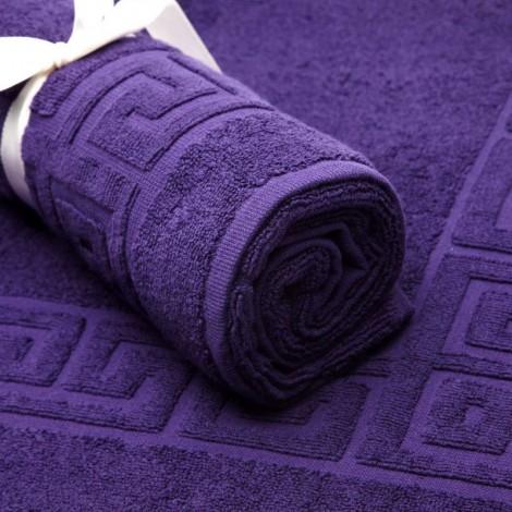 Тъмно лилаво килимче за баня 600гр.