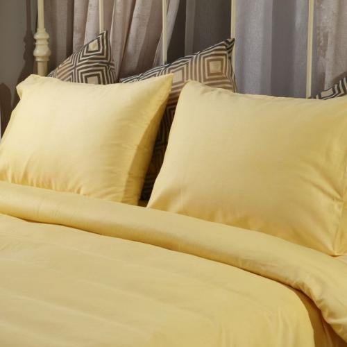 Спален комплект памучен сатен Жълт | Cama mia