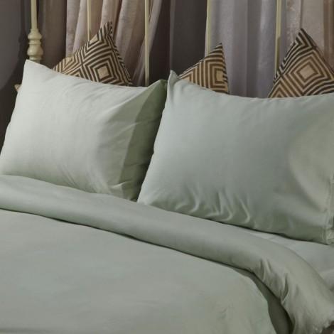 Спален комплект памучен сатен Зелен