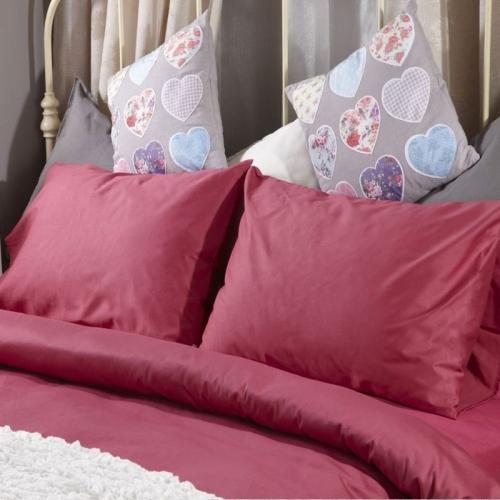 Спален комплект памучен сатен Розов