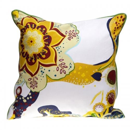 Декоративна възгл. Зелени и жълти цветя   Cama mia