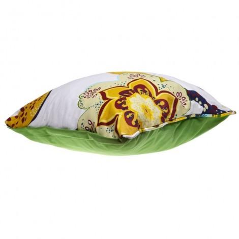 Двулицева възглавничка Зелено с цветя | Cama mia