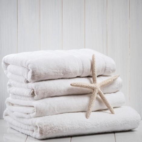 Бяла хавлиена кърпа 540гр