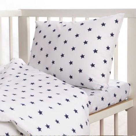 Бебешки комплект 3 части Тъмно сини звездички
