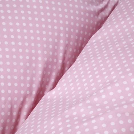 Чаршаф с ластик Розови точки- 2 размера