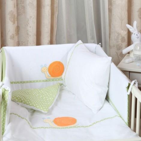 Бебешки сп. к-кт 4 части Зелени точки | Cama mia