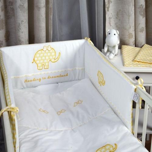 Бебешки сп. к-кт 4 части Жълт слон