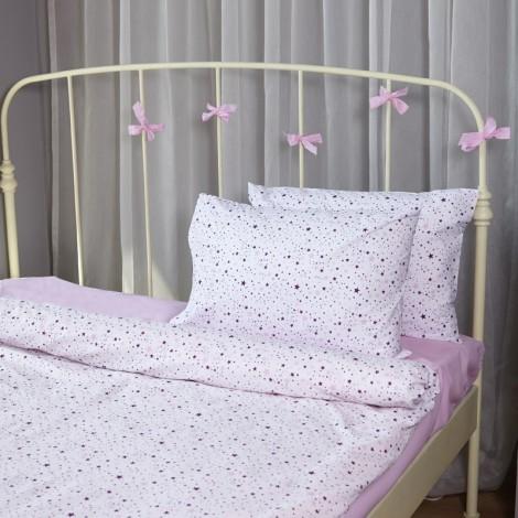 Единичен комплект Розови звезди| Cama mia