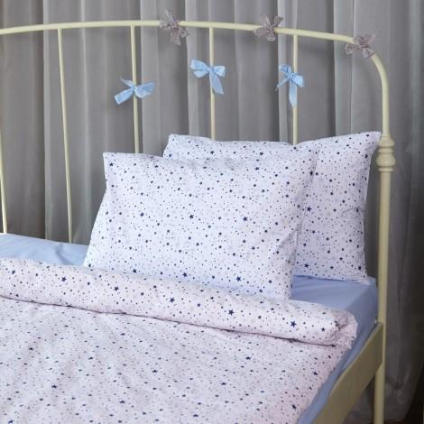 Единичен комплект Сини звезди мулти| Cama mia