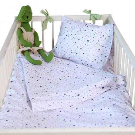 Бебешки комплект 3 части Зелени звезди