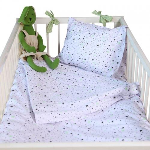 Бебешки комплект 3 части Зелени звезди| Cama mia