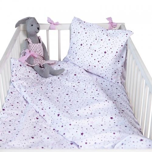 Бебешки комплект 3 части Розови звезди| Cama mia
