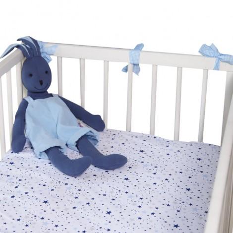 Чаршаф с ластик Сини звезди мулти- 2 размера
