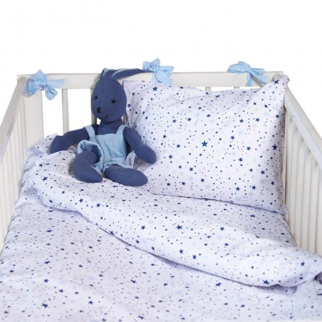 Бебешки комплект 3 части Сини звезди мулти