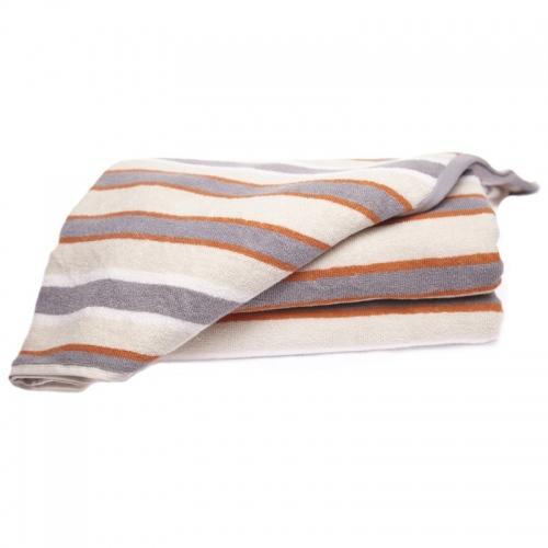 Хавлиена кърпа Кафяво райе- 2 размера