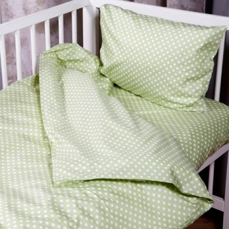 Чаршаф с ластик Зелени точки- 2 размера| Cama mia