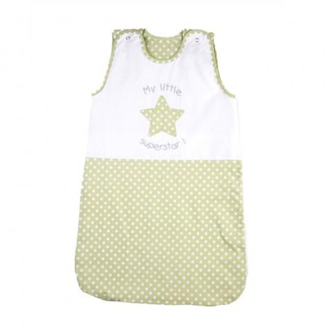 Лятно спално чувалче зелена звезда - 2 размера