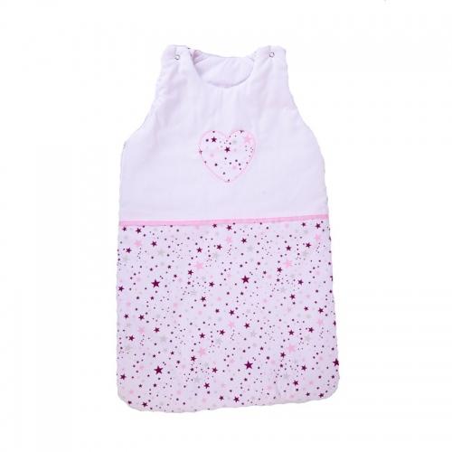 Зимно спално чувалче Розови звезди - 2 размера