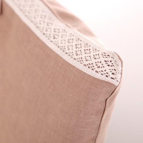 Калъфка за декоративна възглавница лукс с дантела Тютюн| Cama mia