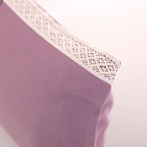 Калъфка за декоративна възглавница лукс с дантела Лилаво| Cama mia