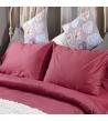 Спален комплект памучен сатен Розов с ластик