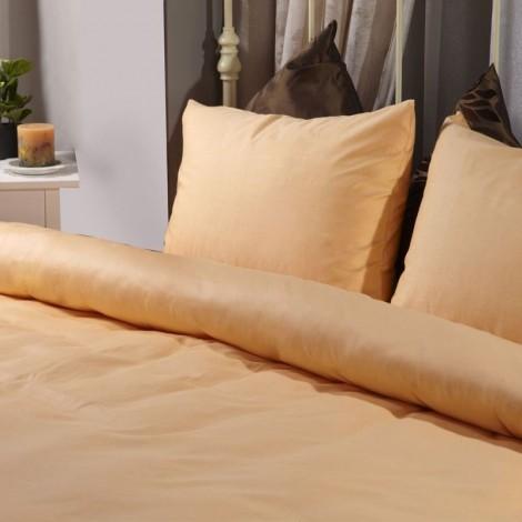 Спален комплект памучен сатен Оранжев с ластик | Cama mia
