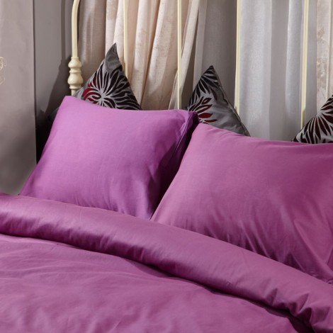 Спален комплект памучен сатен Лилав с ластик | Cama mia