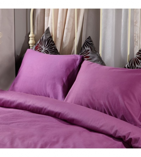 Спален комплект памучен сатен Лилав с ластик   Cama mia