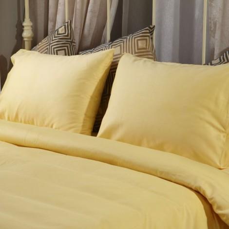Спален комплект Поликотън Жълт с ластик