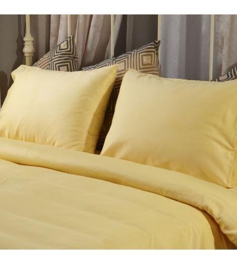 Спален комплект Поликотън Жълт с ластик | Cama mia