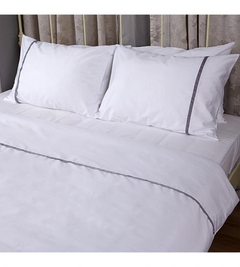 Спален комплект Бяло с Лента Сатен