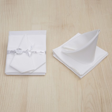 4 бр. салфетки бяло