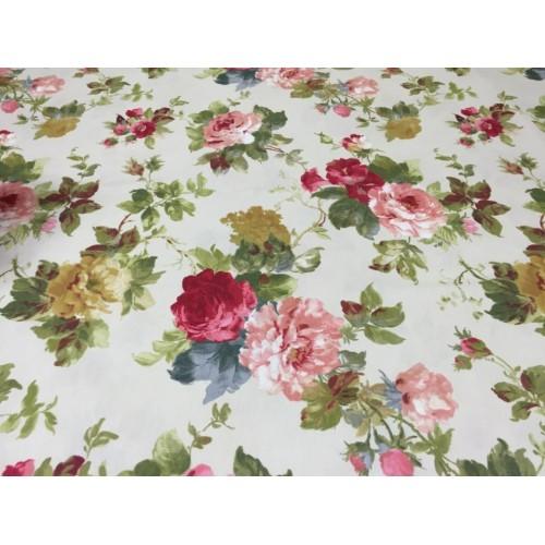 Завеса / дамаска с красиви цветя 170913